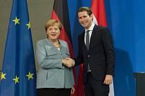Německá kancléřka Angela Merkelová a rakouský kancléř Sebastian Kurz