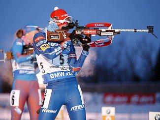 Veronika Vítková při střelbě