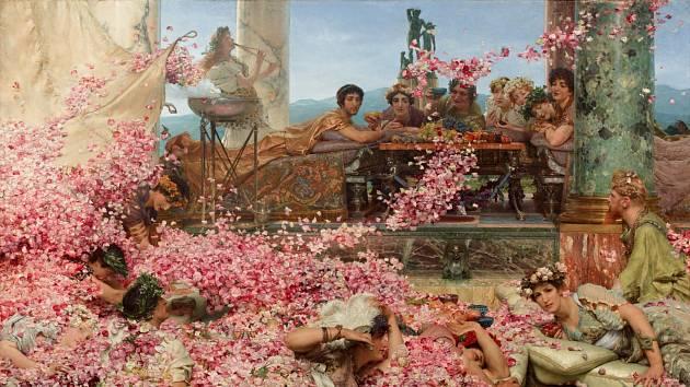 Obraz z 19. století znázorňující římského císaře Elagabala, který pořádá hostinu.