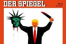 Německý týdeník Der Spiegel vyobrazil Donalda Trumpa s hlavou sochy Svobody.