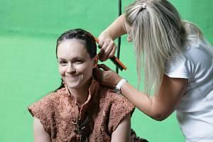 """Americká herečka Susan May Pratt: Fantasy pohádka Poslední z Aporveru je něco jako český Avatar, také se natáčela """"na zeleném plátně"""", do něhož pak počítač dodělá pozadí."""