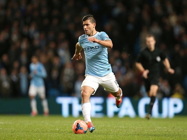 Sergio Agüero v dresu Manchesteru City
