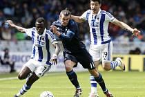 Gareth Bale (uprostřed) zařídil z Realu Madrid výhru nad San Sebastianem.