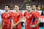 Zklamaní čeští florbalisté po porážce v zápase o bronz na MS.