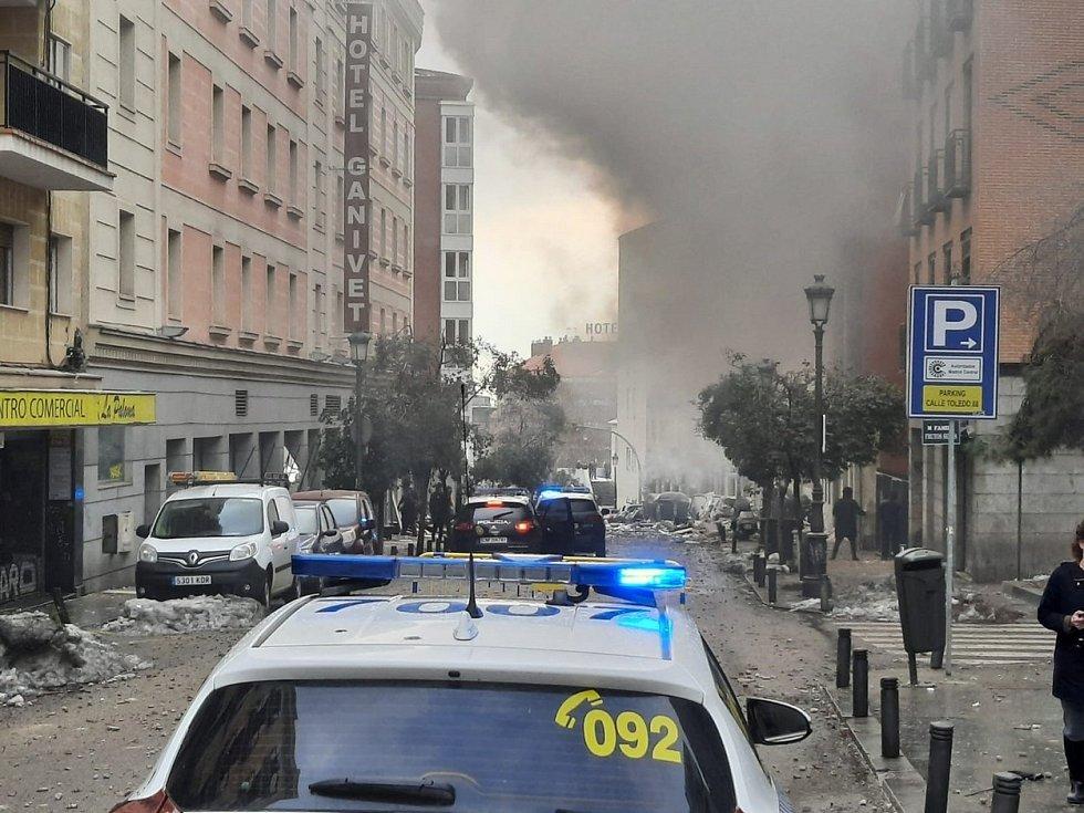 Centrem španělského Madridu otřásl výbuch