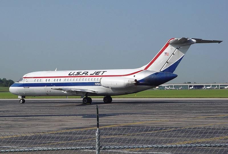 Letoun McDonnell-Douglas-DC-9 podobného typu, jaký se 17. února 1991 zřítil v Clevelandu