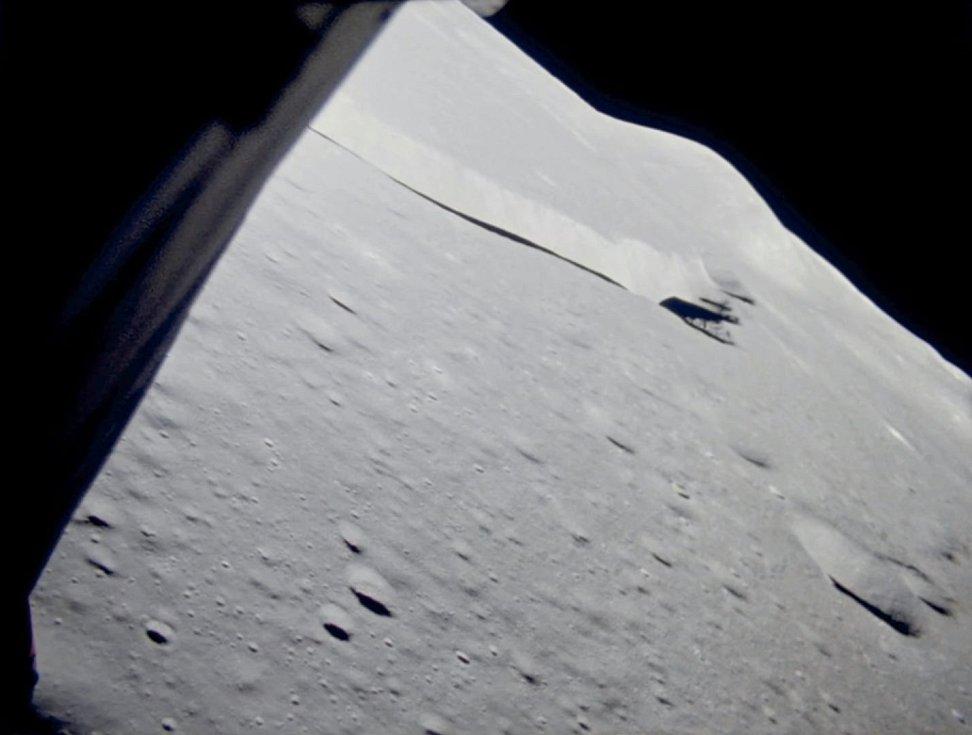 Ostřejší snímky měsíčního povrchu v blízkosti přistávací plochy modulu Apolla 15