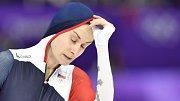 Martina Sáblíková byla v cíli zklamaná, medaile ji utekla o půl vteřiny.