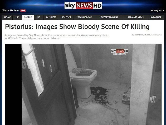 Britský server Sky News přinesl fotografie z místa činu