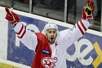 Tomáš Jiránek ze Slavie slaví gól v litvínovské síti