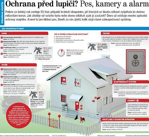 Ochrana před lupiči? Pes, kamery a alarm