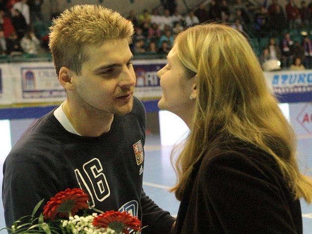 Brankář české házenkářské reprezentace Martin Galia je oporou týmu.