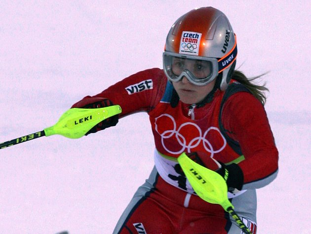 Mistryní republiky v obřím slalomu se stala devětadvacetiletá  Petra Zakouřilová.