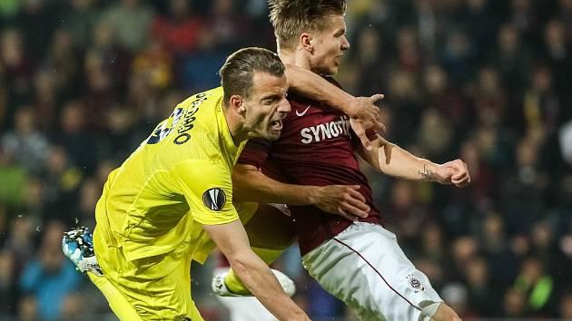 "Sparta - Villarreal: Martin Frýdek a Roberto Soldado se často ""kočkovali"""