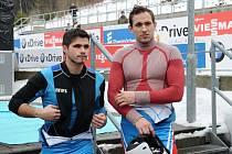 Sáňkaři Antonín (vlevo) a Lukáš Brožovi.