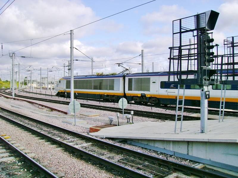 Vlak společnosti Eurostar na trase mezi Londýnem a Paříží