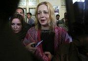 Tereza Hlůšková po vynesení verdiktu