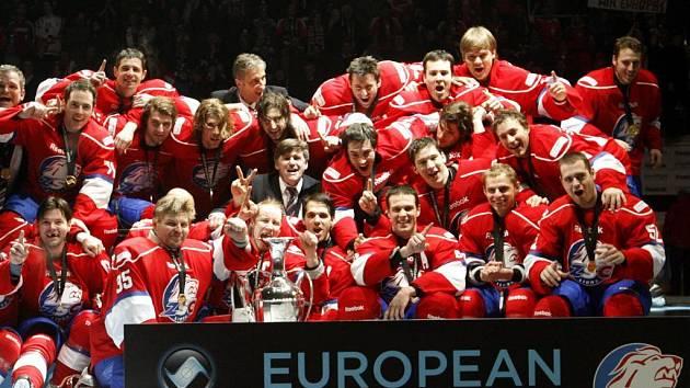 Evropští hokejoví šampioni z Curychu.