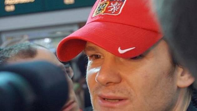Kapitán české hokejové reprezentace Patrik Eliáš už dorazil do Vancouveru.