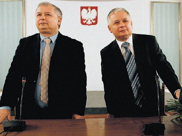 Dvojčata Jaroslaw a Lech Kaczyńští