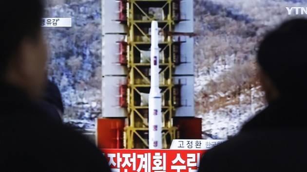 Odpálení rakety dlouhého doletu z minulého týdne.