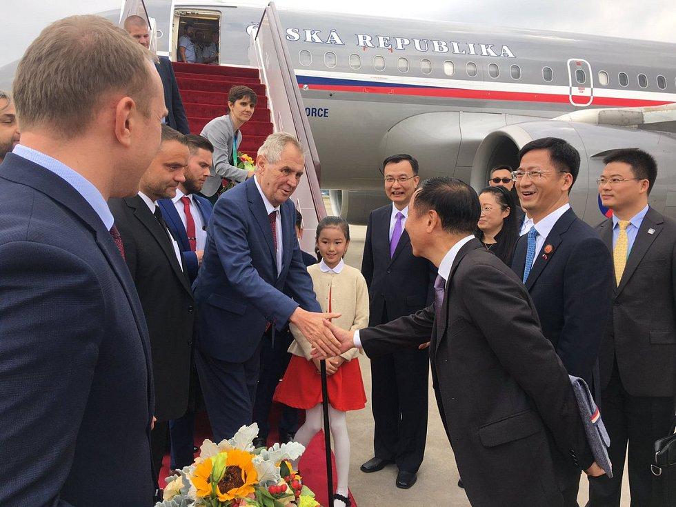 Miloš Zeman v Číně