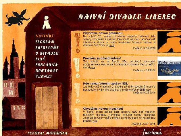 web Naivního divadla Liberec