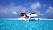 Létání na Maledivách