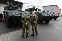 Slavnostní předání čtyř kolových obrněných vozidel Pandur pro 41. mechanizovaný prapor se uskutečnilo ve Štěpánově na Olomoucku.