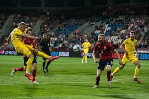 Čeští fotbalisté remizovali v přípravném utkání v Plzni s Ukrajinou 1:1.