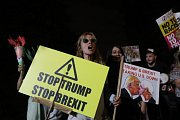 Protesty proti Donaldu Trumpovi v Londýně