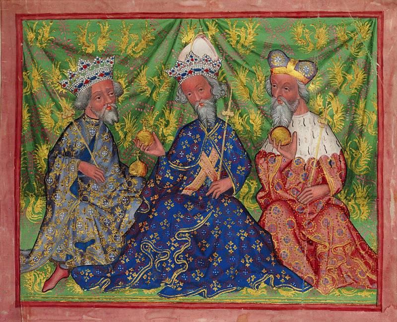 Václav IV., Karel IV. a Jošt
