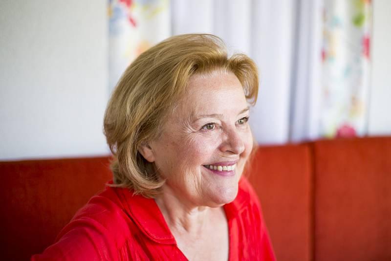 Herečka a politička Magda Vášáryová.