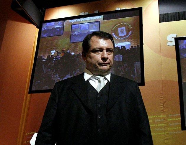Jiří Paroubek na 35. sjezdu ČSSD