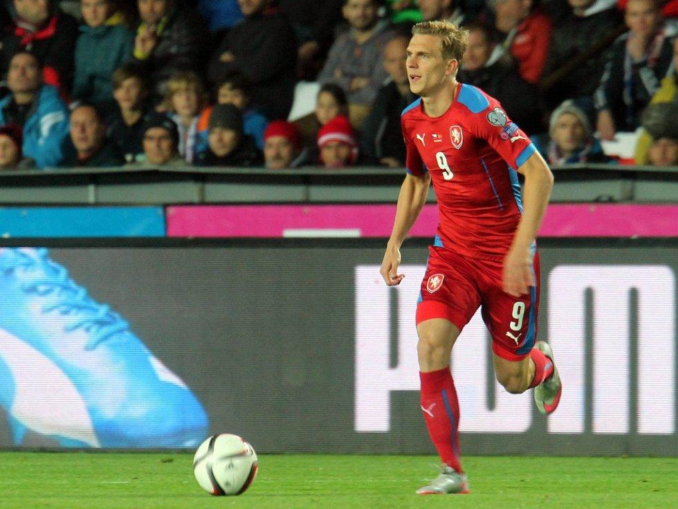 Česko - Turecko: Bořek Dočkal u míče