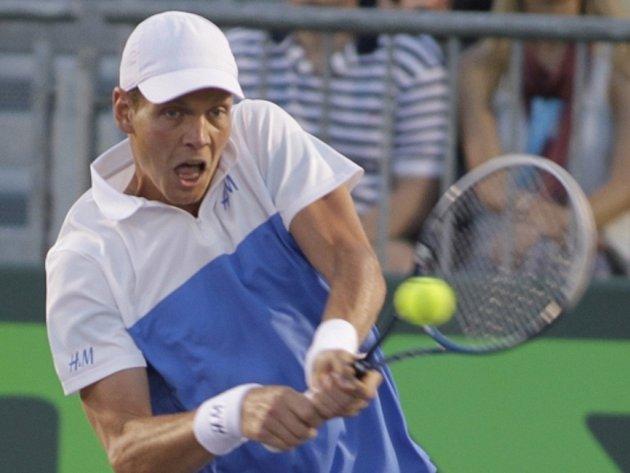 Tomáš Berdych na Masters v Miami.