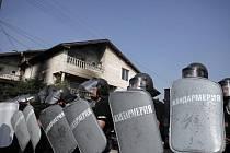 Protiromské protesty v Bulharsku.