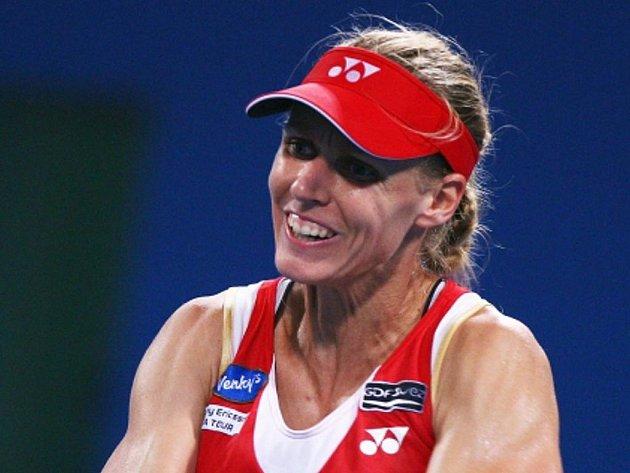 Jelena Dementěvová na turnaji v Pekingu.