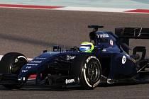 Felipe Massa (loni) během testů