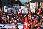 Stávka francouzských odborářů proti reformě zákoníku práce