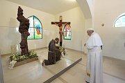 Papež František v Pietrelcině