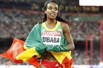 Genzebe Dibabaová si doběhla pro zlato na trati 1500 metrů