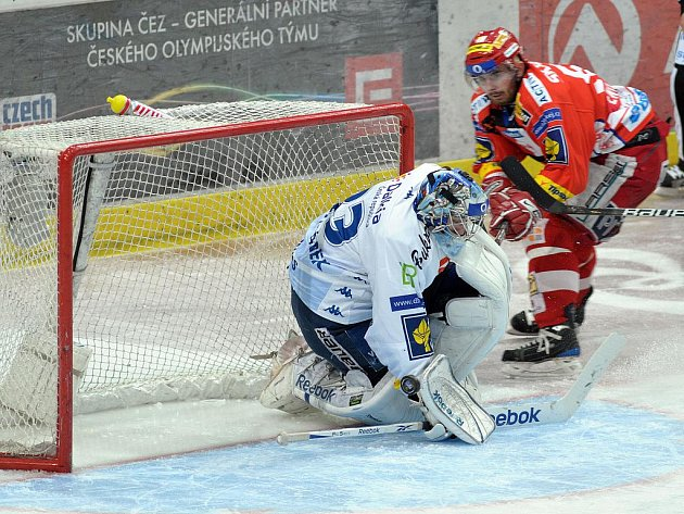 Vítkovice podržel v semifinále play off proti Slavii především brankář Jakub Štěpánek.