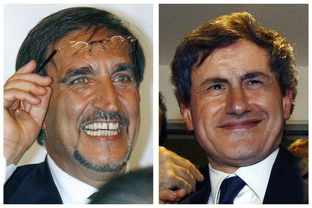 Italský ministr obrany Ignazio La Russa (vlevo) a římský primátor Gianni Alemann