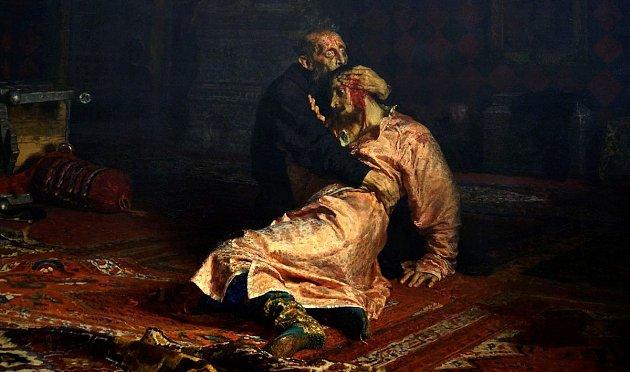 Ivan Hrozný a jeho syn Ivan 16. listopadu 1581