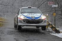 Jan Kopecký při testu Peugeotu 207 S2000.