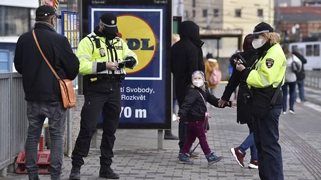 Policejní kontrola v Brně