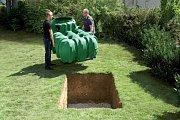 podzemní nádrž na vodu, ilustrační foto