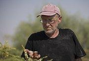 Farmář Guy Erlich s balením vzácného medu.
