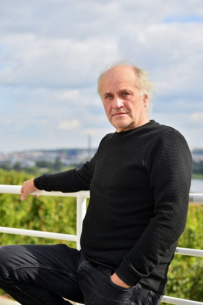 Michael Kocáb poskytl 19.září vPraze rozhovor Deníku. Foto: Deník/Zbyněk Pecák
